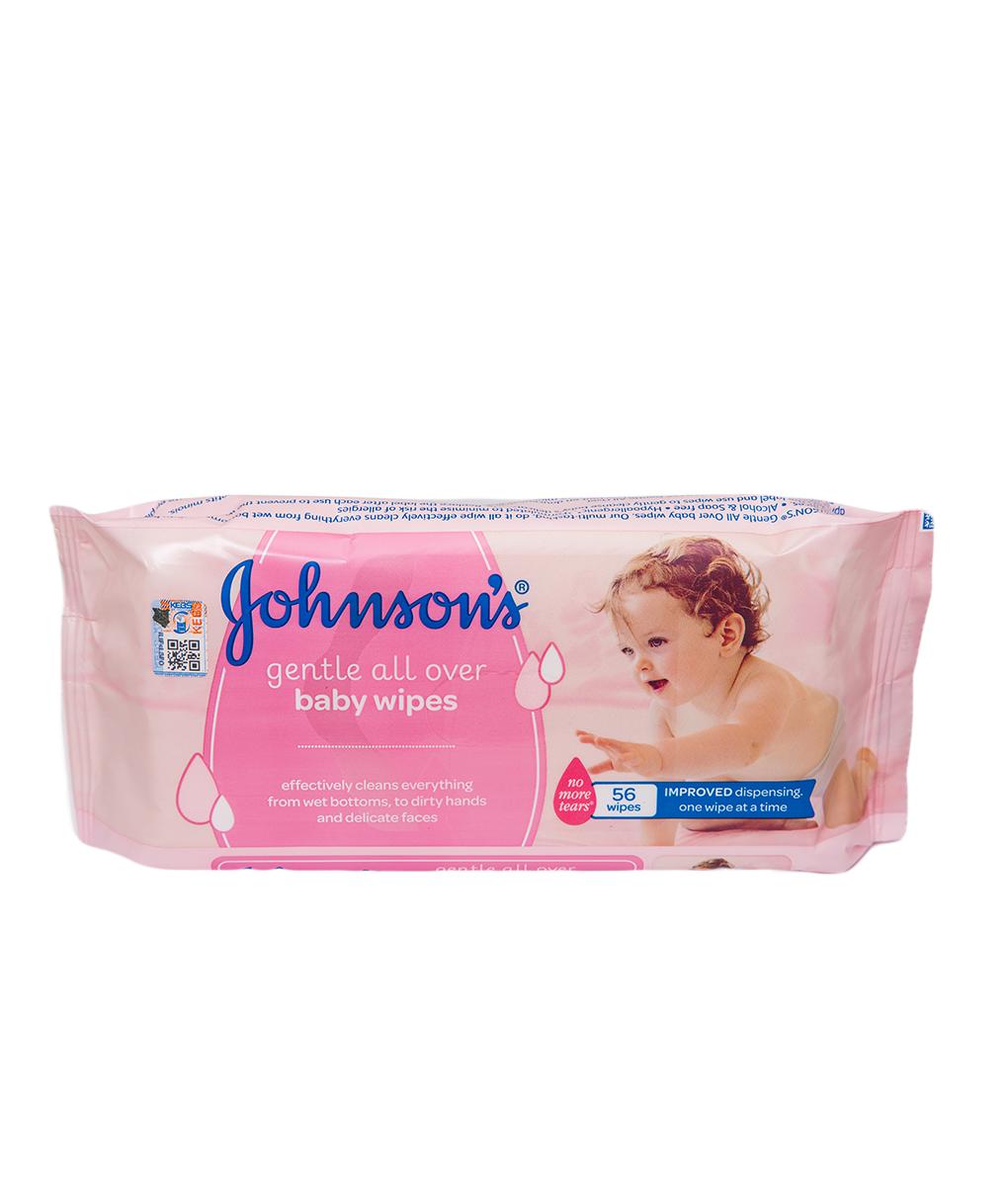 3908c80400b Johnson's Baby Wipes Gentle All Over 56 Pieces   Kasha Kenya
