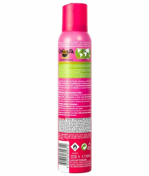 Ushuaia Deodorant Spray Energisant Grenade 200ml