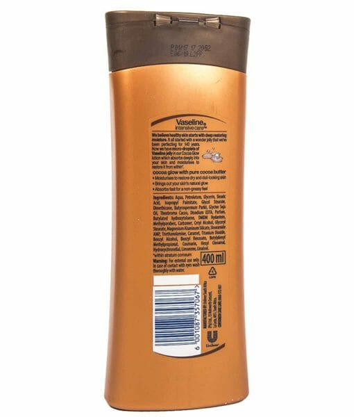 Vaseline Cocoa Glow Intensive Care Body Lotion - 400 mL
