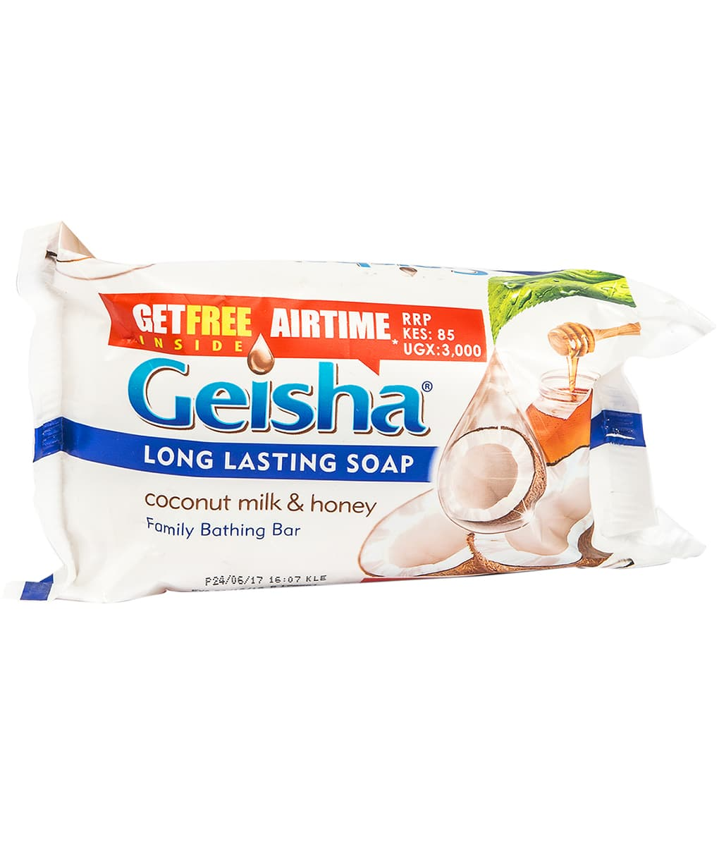 Geisha Bath Soap Moisturising Coconut Milk & Vitamin E 225g