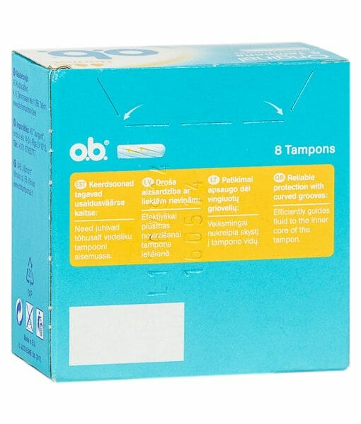 O.B Original Normal Tampons 8 Pieces