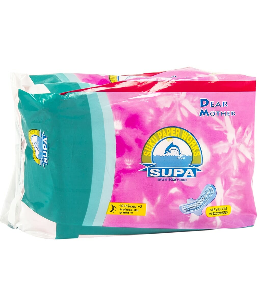 Supa Sanitary Pads 10Pieces