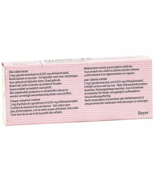Bayer Diane-35 Birth Control Pills - 21 Tablets For 3 Months