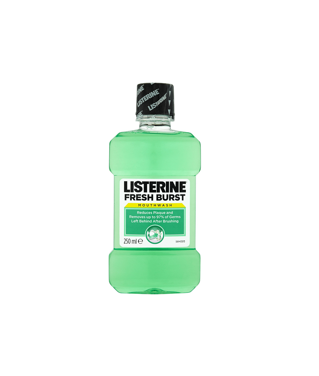 listerine fresh burst anti bacterial mouthwash 250ml kasha